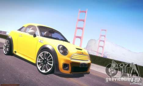 Mini Concept Coupe 2010 для GTA San Andreas вид сзади