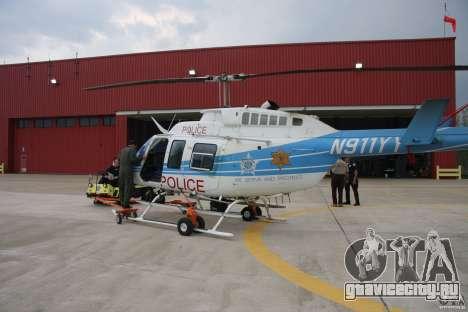 Bell 206 B - Chicago Police Helicopter для GTA 4 вид сверху