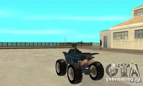Honda Sportrax для GTA San Andreas вид сзади слева