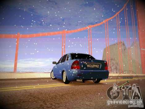 Lada Priora Turbo v2.0 для GTA San Andreas вид слева