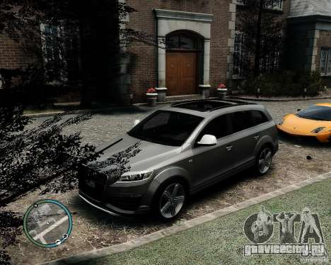 Audi Q7 V12 TDI Quattro Updated для GTA 4 вид сзади