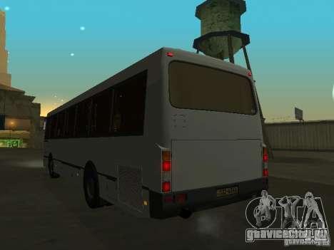 ЛАЗ 52528 для GTA San Andreas вид изнутри