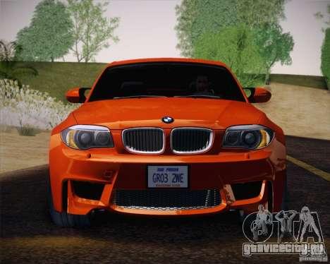 BMW 1M v2 для GTA San Andreas вид изнутри