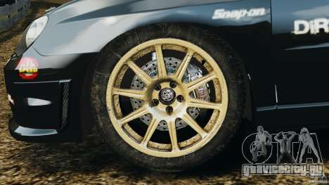 Subaru Impreza WRX STI N12 для GTA 4 вид изнутри