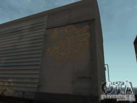 Рефрежираторный вагон Дессау №8 Разрисованный для GTA San Andreas вид сзади