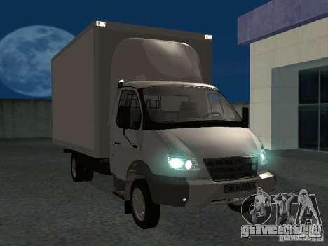 ГАЗ 33102 Валдай (удлиненный) для GTA San Andreas вид сзади
