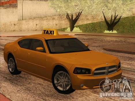 Dodge Charger STR8 Taxi для GTA San Andreas вид слева