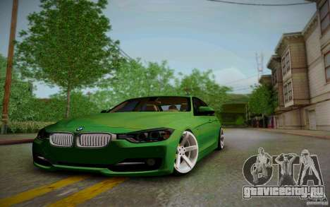 BMW 3 Series F30 Stanced 2012 для GTA San Andreas вид изнутри