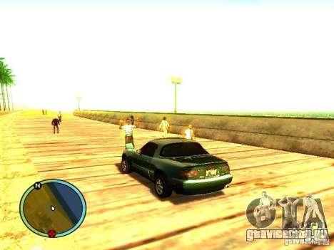 Mazda Miata 1994 для GTA San Andreas вид сзади слева