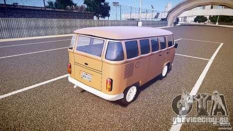 Volkswagen Kombi Bus для GTA 4 вид сзади слева
