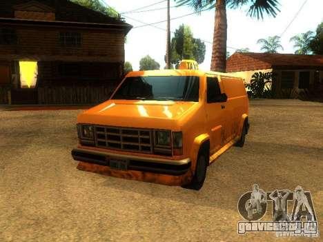 Taxi Burrito для GTA San Andreas вид слева