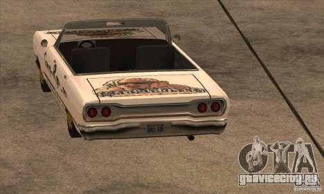 Покраска для Savanna для GTA San Andreas третий скриншот