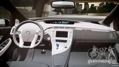 Toyota Prius NYC Taxi 2011 для GTA 4 вид сзади