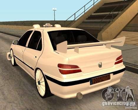 Peugeot 406 Taxi 2 для GTA San Andreas вид сзади слева