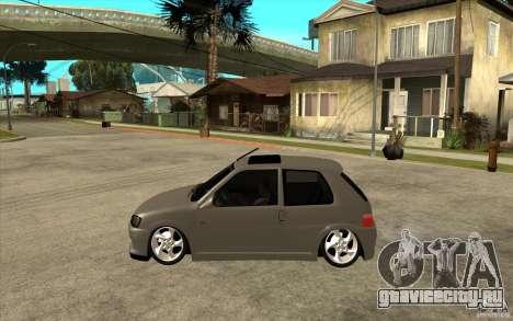 Peugeot 106 Reptile для GTA San Andreas вид слева