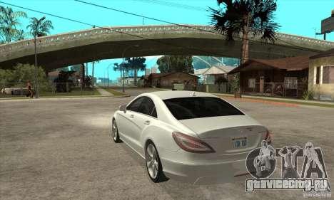 Mercedes-Benz CLS 350 2011 для GTA San Andreas вид сзади слева