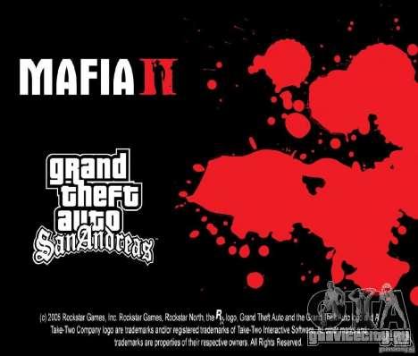 Загрузочные картинки в стиле Mafia II + бонус! для GTA San Andreas