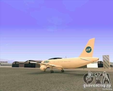Airbus A-320 авиакомпании UTair для GTA San Andreas вид справа