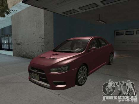Mitsubishi Evolution X Stock-Tunable для GTA San Andreas вид сверху