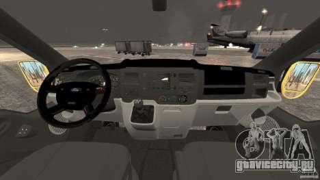 Ford Transit NY Airport Service [ELS] для GTA 4 вид сзади