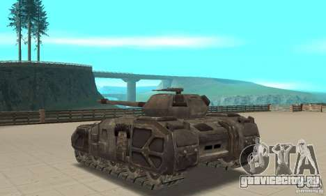Танк Rhino-UT для GTA San Andreas вид сзади слева