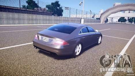 Mercedes-Benz CLS 63 для GTA 4 вид сверху