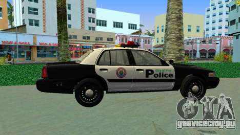 Ford Crown Victoria Police 2003 для GTA Vice City вид сзади слева