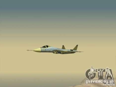 T-50 Pak Fa для GTA San Andreas вид снизу