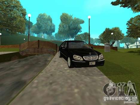 Mercedes-Benz S600 Biturbo 2003 v2 для GTA San Andreas вид слева