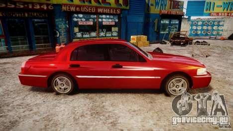 Lincoln Town Car 2003 для GTA 4 вид изнутри