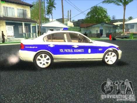 BMW 330i YPX для GTA San Andreas вид изнутри