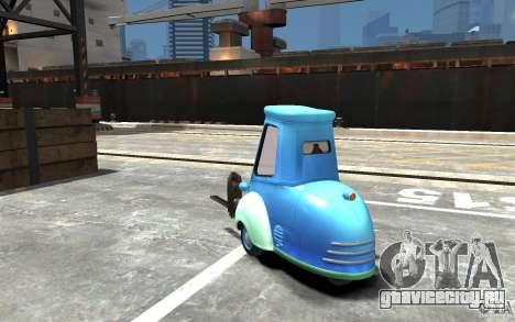 Guido из Cars Mater-National для GTA 4 вид сзади слева