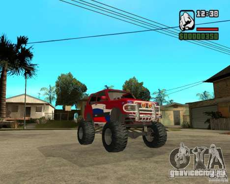 VAZ-21213 4x4 Monster для GTA San Andreas вид изнутри