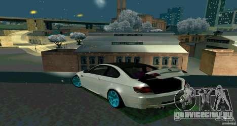 BMW E92 для GTA San Andreas вид изнутри