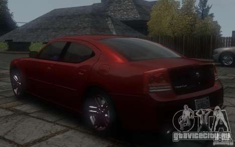 Dodge Charger RT Hemi 2008 для GTA 4 вид сзади слева