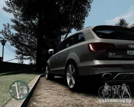 Audi Q7 V12 TDI Quattro Updated для GTA 4 вид справа