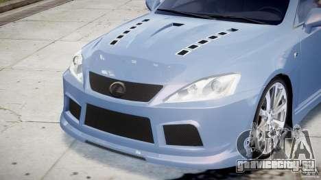 Lexus IS F для GTA 4 двигатель