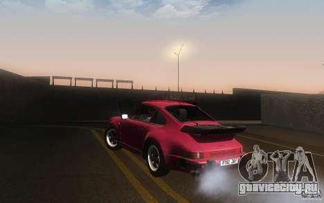 Porsche 911 Turbo 1982 для GTA San Andreas вид сзади слева