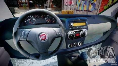 Fiat Fiorino 2008 Van для GTA 4 вид сзади