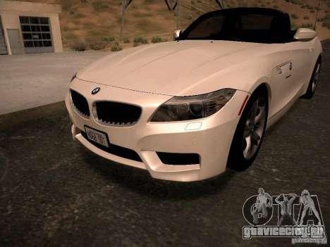 BMW Z4 sDrive28i 2012 для GTA San Andreas салон