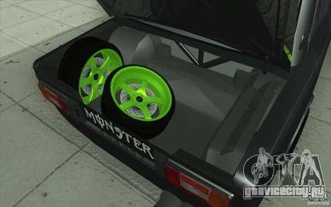 ВАЗ-2106 Lada Drift Tuned для GTA San Andreas двигатель