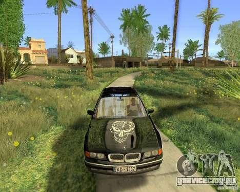 BMW 730i E38 1996 для GTA San Andreas вид изнутри