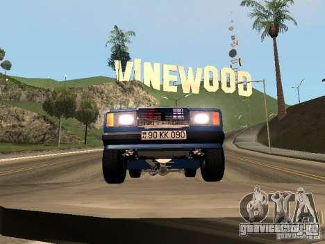 ВАЗ 2107 Baku для GTA San Andreas вид сзади слева