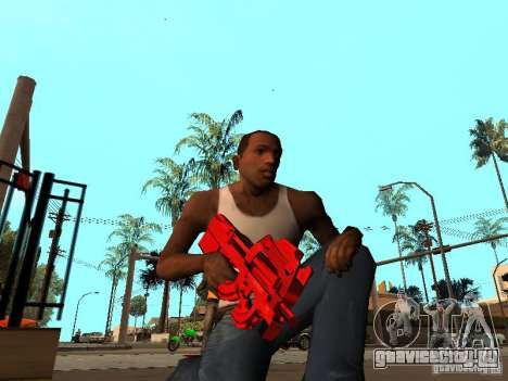 Red Chrome Weapon Pack для GTA San Andreas третий скриншот