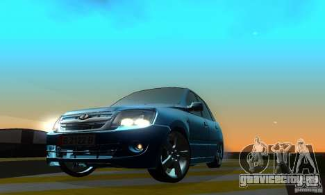 Lada Granta Light Tuning для GTA San Andreas вид сзади слева