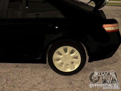 Toyota Camry 2010 для GTA San Andreas вид изнутри