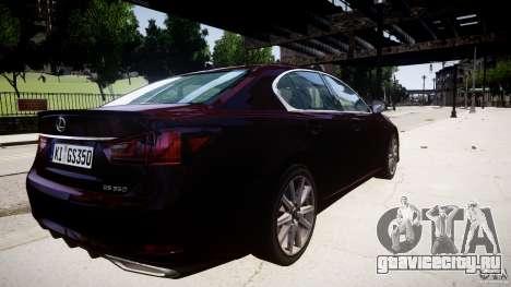 Lexus GS350 F Sport 2013 для GTA 4 вид изнутри