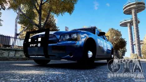 POLICIA FEDERAL MEXICO DODGE CHARGER ELS для GTA 4