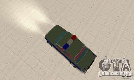 ВАЗ 2101 Милиция для GTA San Andreas вид сзади слева
