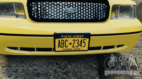 Ford Crown Victoria NYC Taxi 2004 для GTA 4 вид сзади